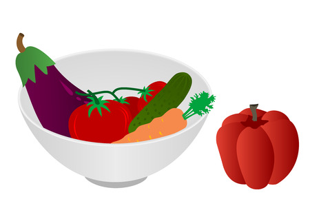 fibber: Illustration of a bowl with vegetables