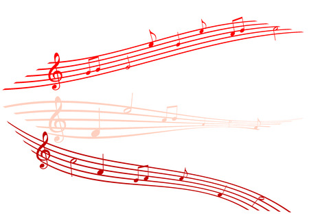 octaves: Abstract Illustration of staves on white background