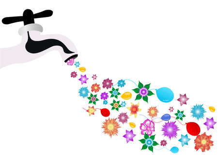spigot: Conceptual background illustration with spigot