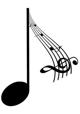 Abstrac Illustration of a music note Vector