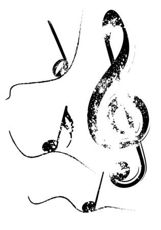 transcription: Abstract illustration of a grunge G clef