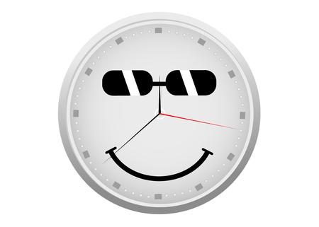 happy hours: R�sum� horloge d�taill�e avec un visage smiley