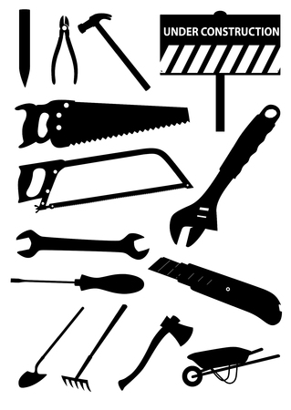 Set of detailed tools isolated on white background Stock Vector - 7471674