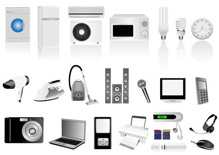 photo hardware: Set of detailed electronic elements
