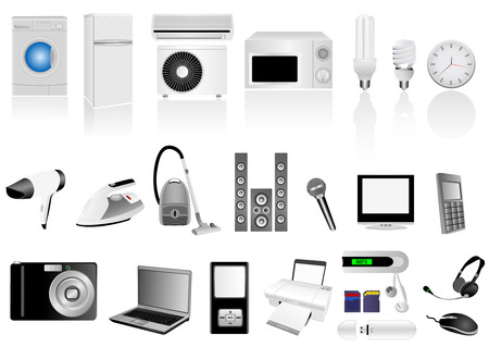 Set of detailed electronic elements