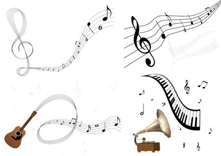 A set of some music illustrations