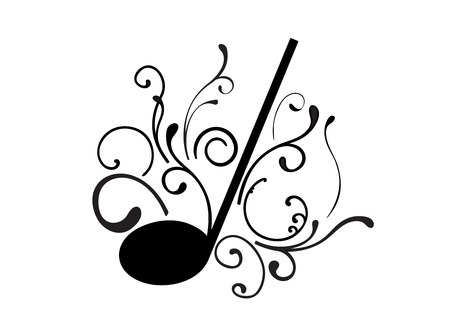 gamut: Abstract illustration of a music note