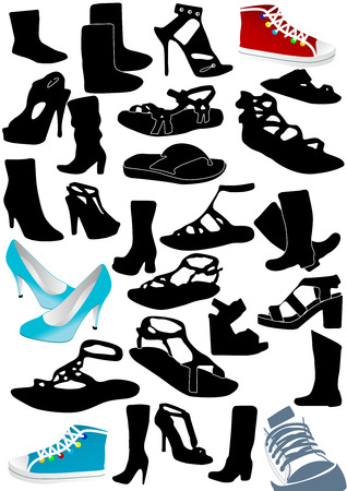 Illustration of some woman shoes Vector