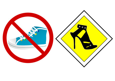 Set of a prohibition and a priority sign Vector