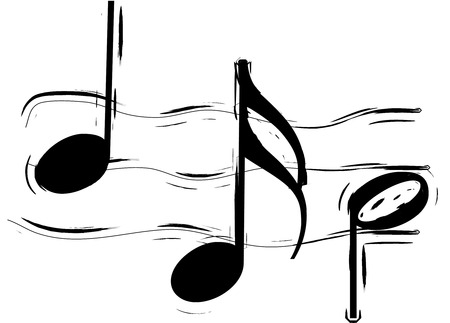 musicsheet: Abstract Illustration of a stave on white background