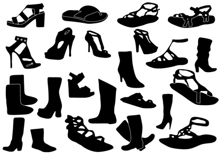 Illustration of some woman shoes Stock Vector - 7718451