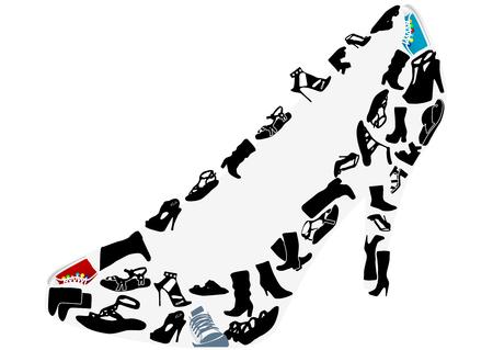image size: Ilustraciones conceptuales de un zapato  Vectores