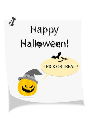 Happy Halloween wishing note Vector