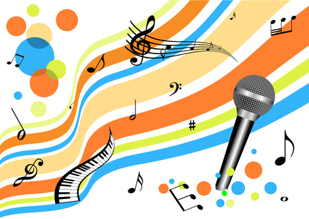 abstract music: Abstracte muziek achtergrond Stock Illustratie