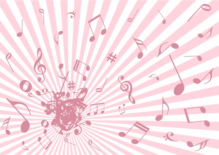 Grunge music illustration on abstract background