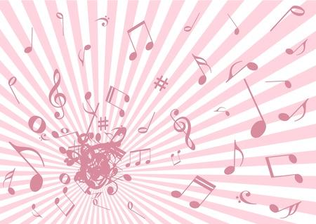 explosie: Grunge muziek illustratie op abstracte achtergrond