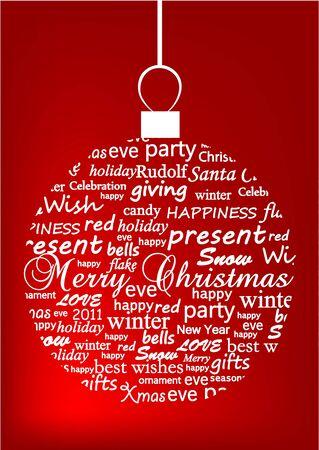 Illustration of a metaphoric Christmas ball Stock Vector - 11244412