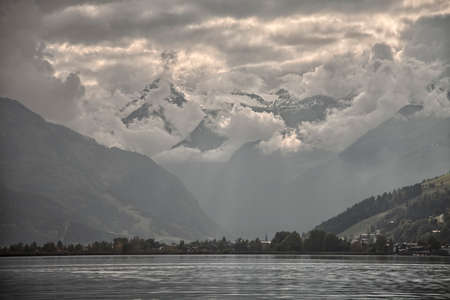 mammoth lakes: Mountainscape from Zell am See, Austria