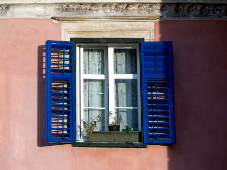 fuschia: Window on a traditional house in Romania