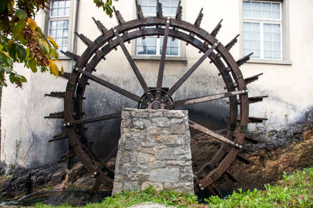 water wheel: Water wheel at Rhine Falls, Switzerland