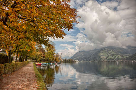 ice dam: Autumn colors in Zell am See, Austria