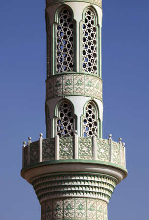 minaret: Detailed lacing of a minaret Stock Photo