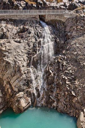 kaprun: Small waterfall near Kaprun - Zell am See, Austria