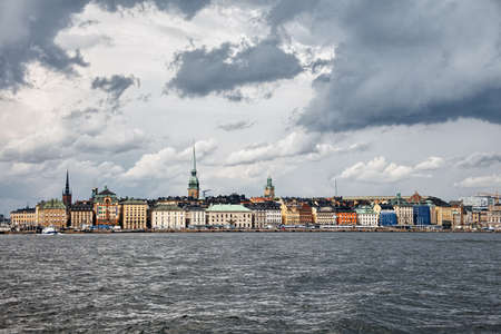stormy clouds: Stormy clouds over Stockholm, Sweden Stock Photo