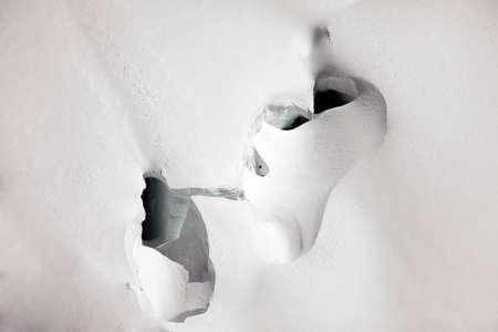 jungfraujoch: Deep crevasses on a glacier near Jungfraujoch, Switzerland