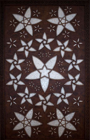 woodwork: Woodwork inside a mosque Stock Photo
