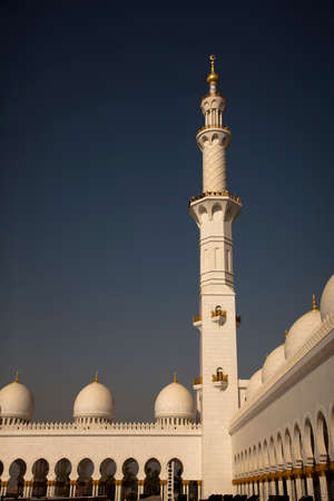 minaret: Detailed lacing design of a minaret Stock Photo