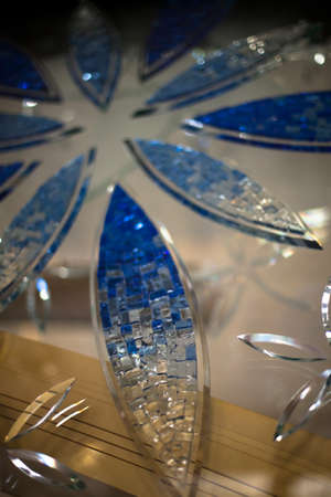 glasswork: Glasswork inside a mosque Stock Photo