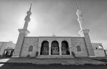 multiple exposure: Mosque in Jumeirah, Dubai