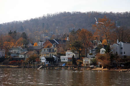 Small town on Hudson river