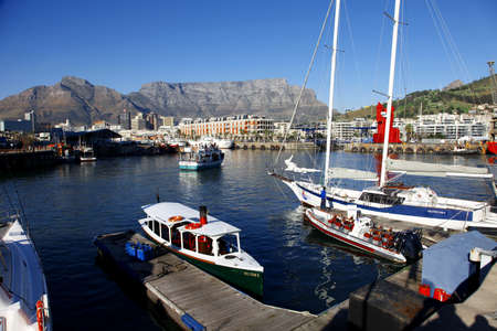 capetown: Capetown harbor views at sunset, South Africa Editorial