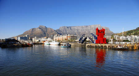 Capetown harbor views at sunset, South Africa Editorial