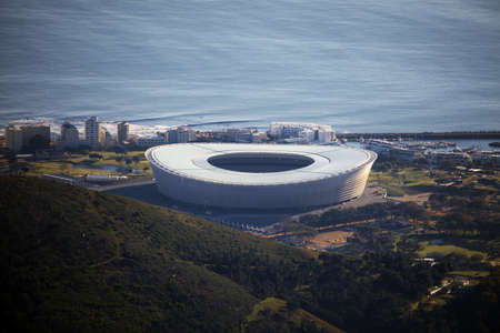 capetown: Capetown stadium views from the Tabletop Mountain, South Africa