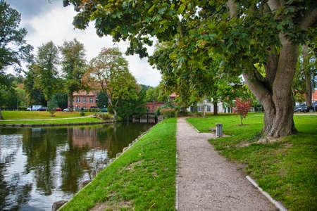 waterways: Beautiful scenery and waterways in Lubeck, Germany