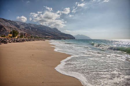 musandam: Pristine beach near Bukha, in Musandam peninsula, Oman