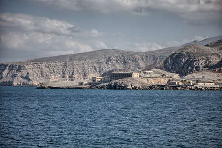 musandam: Amazinc coastal scenery near Khasab, in Musandam peninsula, Oman Editorial