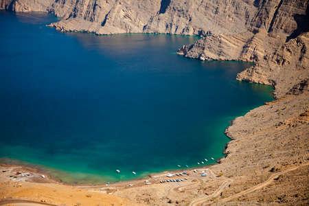 musandam: Khor Najd, a fjord in Musandam peninsula, Oman