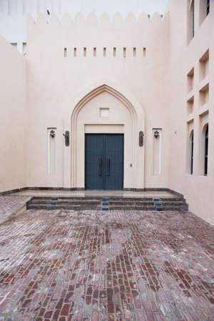 doha: Traditional Arabic entry door in Doha, Qatar