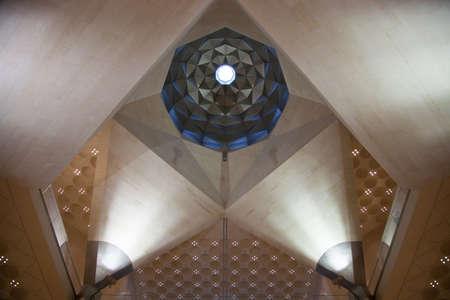 islamic art: Abstract architecture inside Dohas Islamic Art Museum, Qatar
