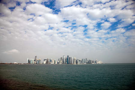 cloudy day: Doha skyline on a cloudy day. Qatar