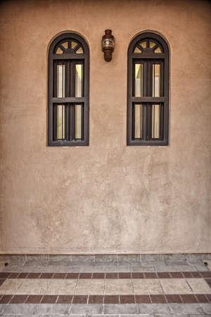 arabic architecture: Traditional Arabic architecture in Doha, Qatar Stock Photo