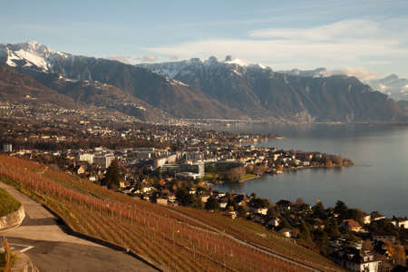 leman: Lake Geneva (Lac Leman) with Montreux in the background