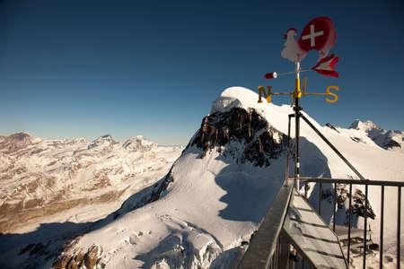 pyramid peak: Scenic views around Zermatt and Matterhorn, Switzerland Stock Photo