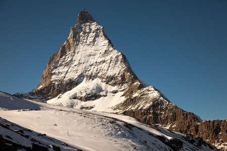 pyramid peak: Scenic views of Matterhorn, Switzerland