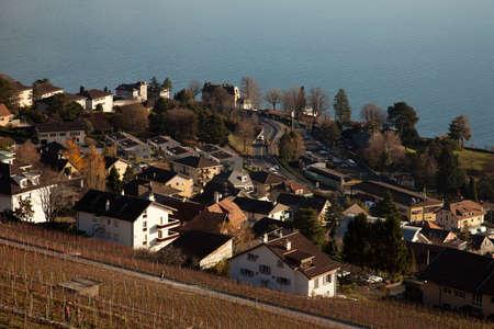 leman: Swiss village on Lake Geneva (Lac Leman)