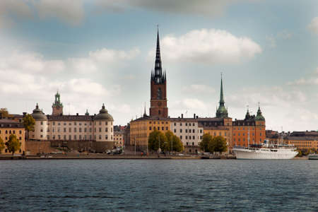 Amazing views of the old town (Gamla Stan) of Stockholm, Sweden